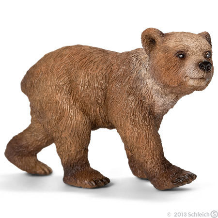 Schleich 14687 Grizzlyjunges 7 cm Serie Wildtiere
