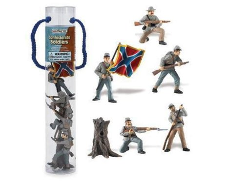 Safari Ltd 679004 Historische Sammlung Confederate Army Set 1 Figuren 6 Tubos-Röhren