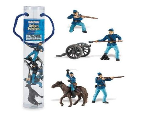 Safari Ltd 678904 Historische Sammlung Union Army Set 2 ( 5 Figuren) Tubos-Röhren
