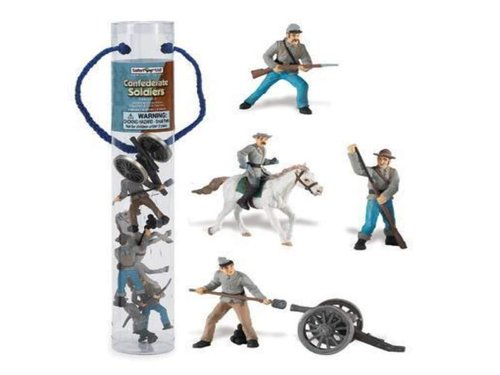 Safari Ltd 679104 Historische Sammlung Confederate Army Set 2 Figuren 5 Tubos-Röhren