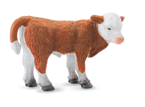 Collecta 88236 Hereford Kalb stehend 7 cm Wildtiere