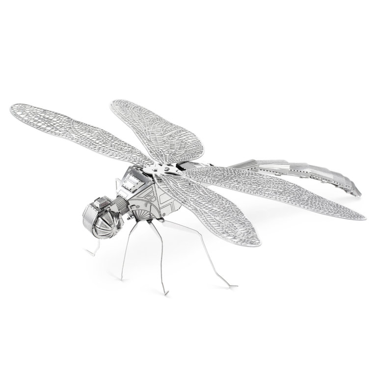 Metal Earth 1064 Libelle Dragonfly 3D-Metall-Bausatz Silver-Edition
