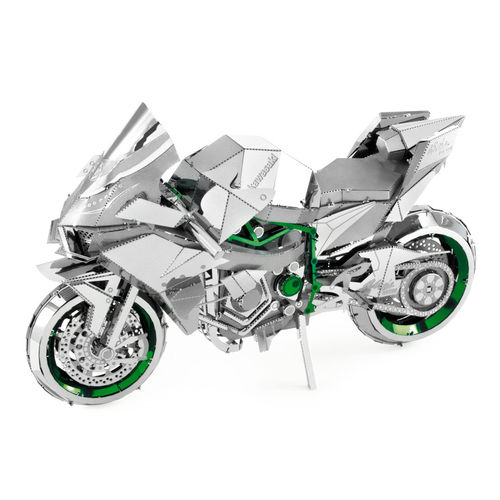 Metal Earth 1321 Kawasaki Ninja Green 50 Teile 3D-Metall-Bausatz ICONX