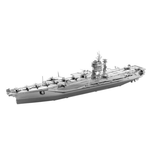 Metal Earth 1322 USS Roosevelt Aicraft Carrier 120 Teile 3D Metall-Bausatz ICONX