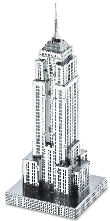Metal Earth 1010 Empire State Building 16 Teile 3D-Metall-Bausatz Silver-Edition