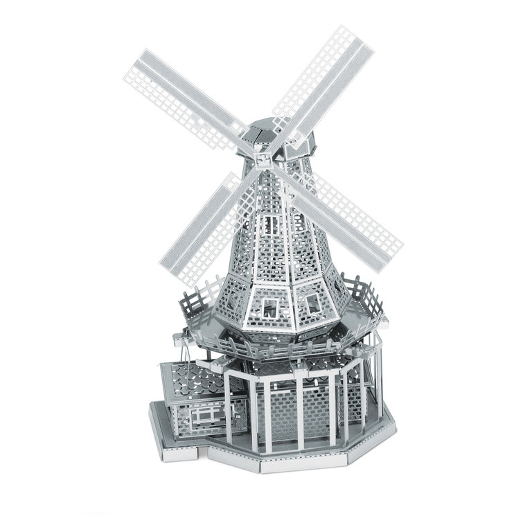 Metal Earth 1038 Windmühle 3D-Metall-Bausatz Silver-Edition