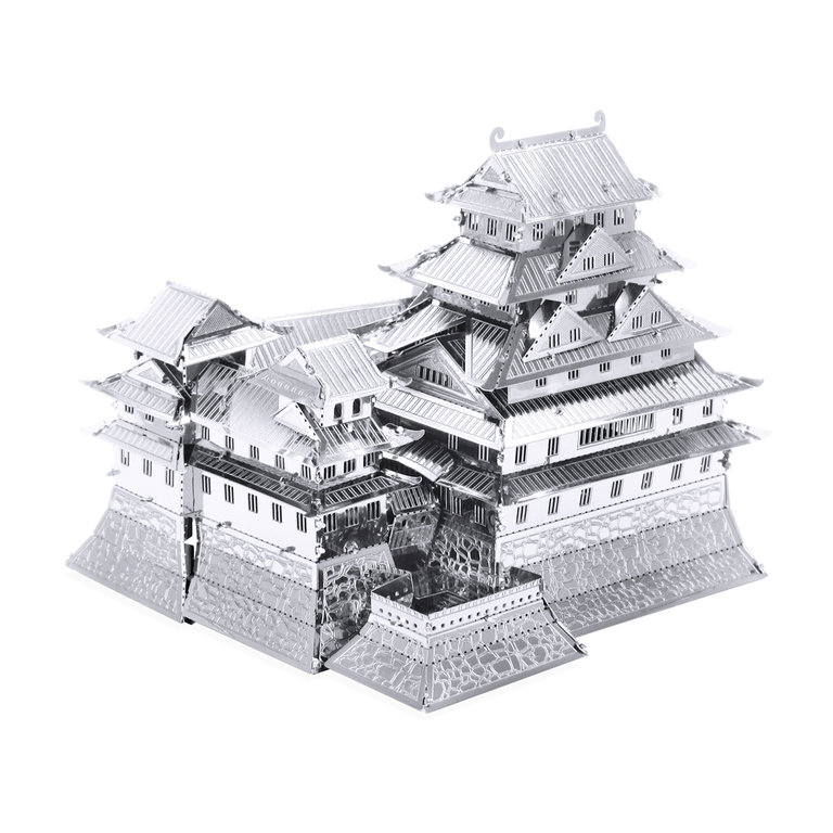 Metal Earth 1055 Himeji Castle 3D-Metall-Bausatz Silver-Edition