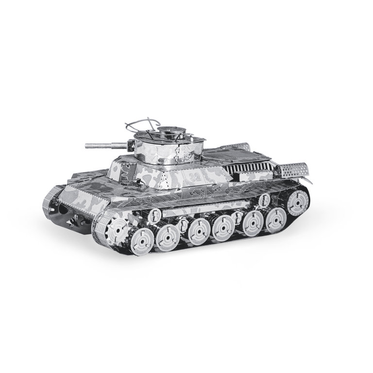 Chi-Ha Tank Panzer 3D-Metall-Bausatz Silver-Edition Metal Earth 1202