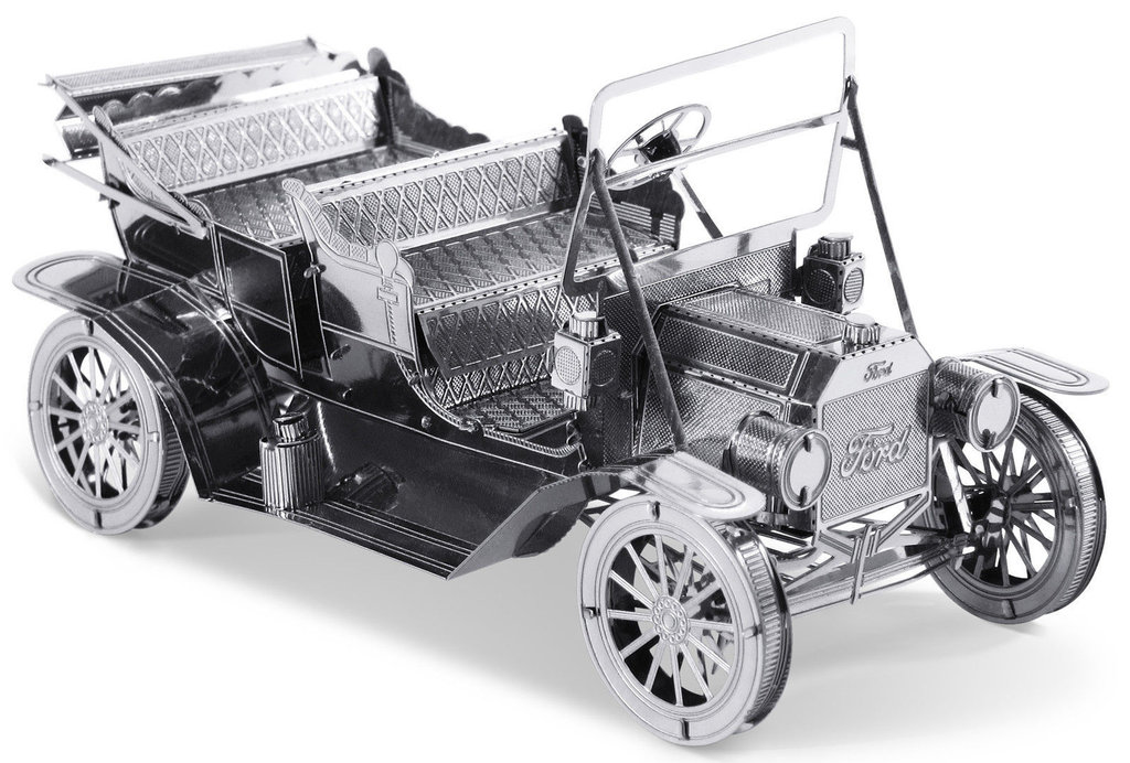 Ford 1908 Model T 53 Teile 3D-Metall-Bausatz Silver-Edition Metal Earth 1051