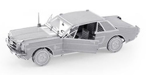 Ford 1965 Mustang Coupe 50 Teile 3D-Metallbausatz Silver-Edition Metal Earth 1056