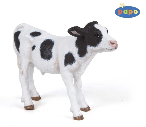 Papo 51149 calf (black/white) 8 cm Farm