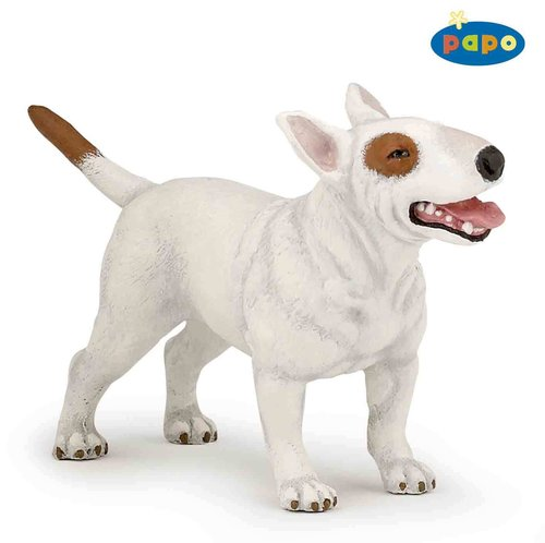 Papo 54027 bullterrier white (dog) 9 cm Dogs and Cats