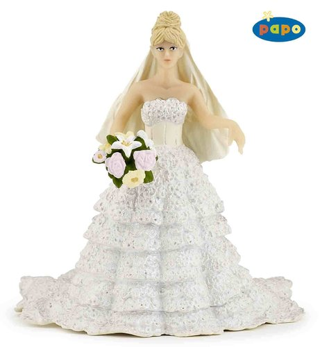 Papo 38819 bride with lace dress 9,5 cm Fairy Tales
