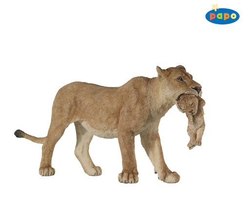 Papo 50043 Lion with young 14,5 cm Wild Animals