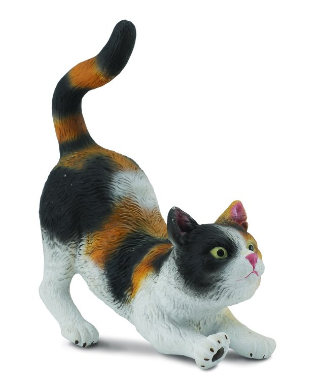 Collecta 88491 houe cat stretching (3-colored) 6 cm Dogs and Cats