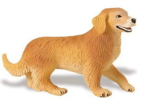 Safari Ltd 238929N Golden Retriever 9 cm Series Star from the Exhibition New Execution