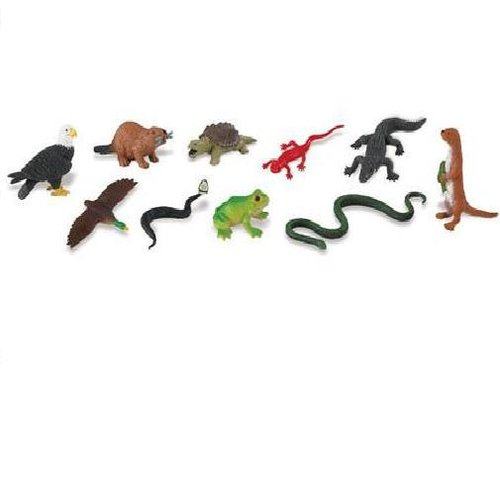 Safari Ltd 765704 Flussleben (10 Minifiguren)