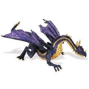 Safari Ltd 10165 Mitternachtsmond-Drache 22 cm Serie Mythologie