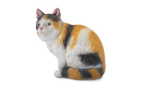 Collecta 88490 house cat sitting (3-colored) 4 cm Dogs and Cats