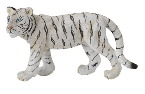 Collecta 88429 tiger cub (white) walking 7 cm Wild Animals