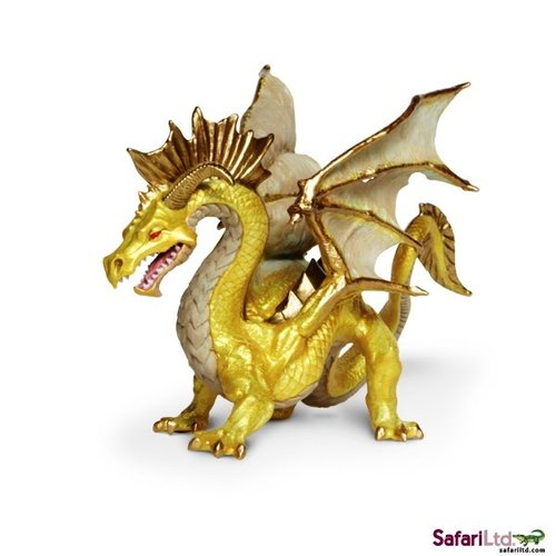 Safari Ltd 10118 Goldener Drachen 16 cm Serie Mythologie