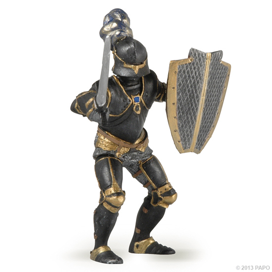 Papo 39275 Knight (black armour) 9 cm Knight and Castle