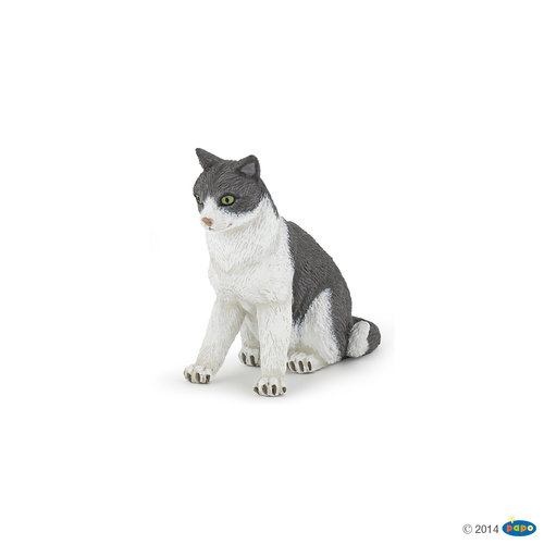 Papo 54033 cat sitting 6 cm Dogs and Cats