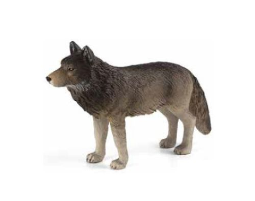 Mojo 387025N wolf (standing) 10 cm Wild Animals (new model)