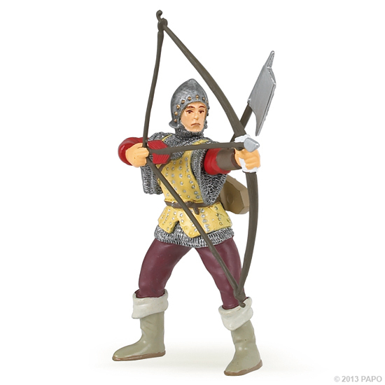 Papo 39384 archer (red) 9 cm Knight and Castle