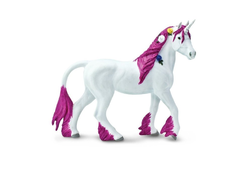 Safari Ltd 802929 Einhorn rosa 16 cm Serie Mythologie