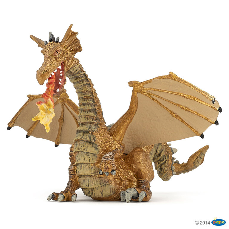 Papo 39095 fire-breathing dragon (gold) 13 cm Fantasy