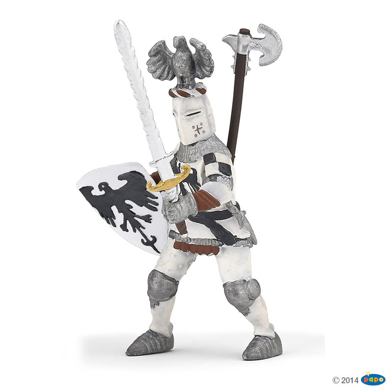 Papo 39785 Knight with helmet (white) 10 cm Knight and Castle