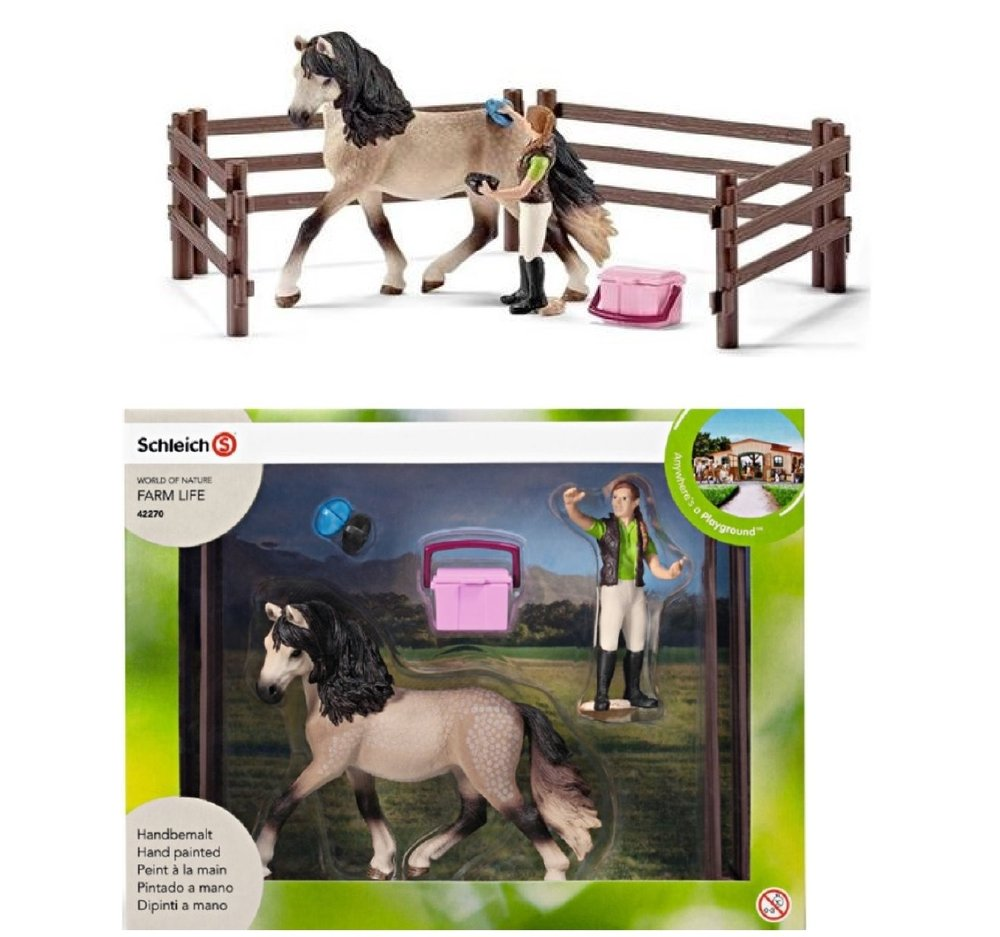 Schleich Andalusian Horse Care Toy Set World of Nature Farm Life 42270