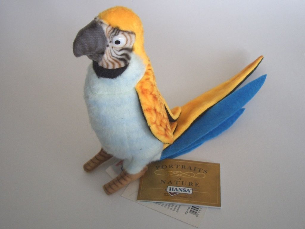 Hansa Toy 3325 parrot (light blue/yellow) 16 cm soft-toy