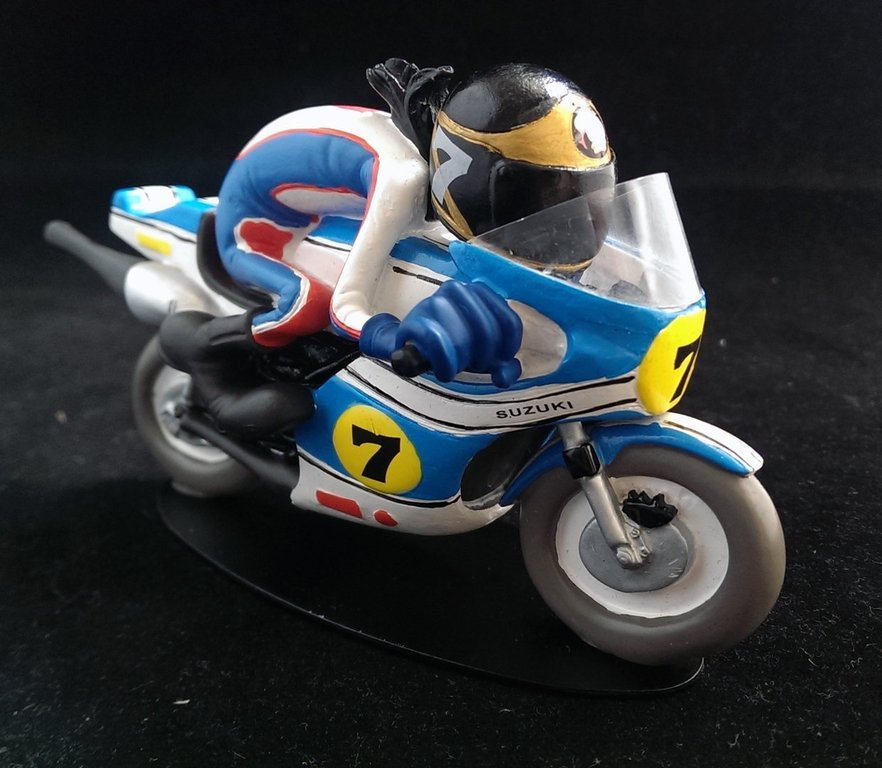 Joe Bar Team - Barry Sheene Suzuki 500RG 11 cm Dekofigur JBT004
