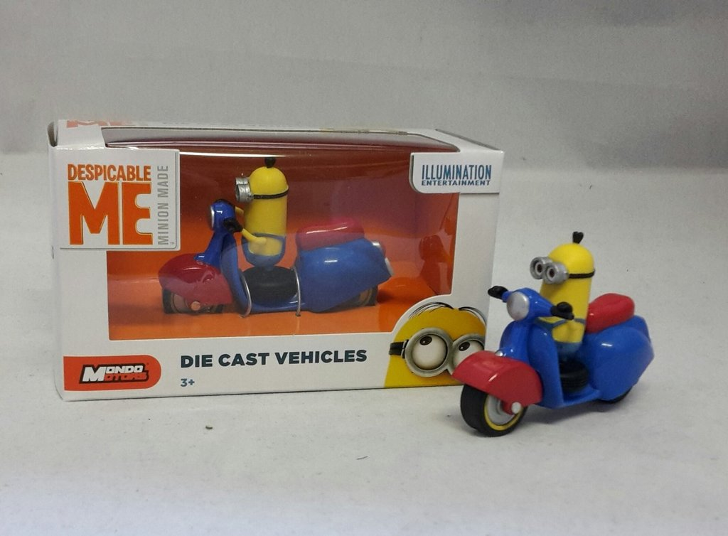 Tim auf Scooter 7,5 cm Nr. 03 Minions Die Cast Vehicles