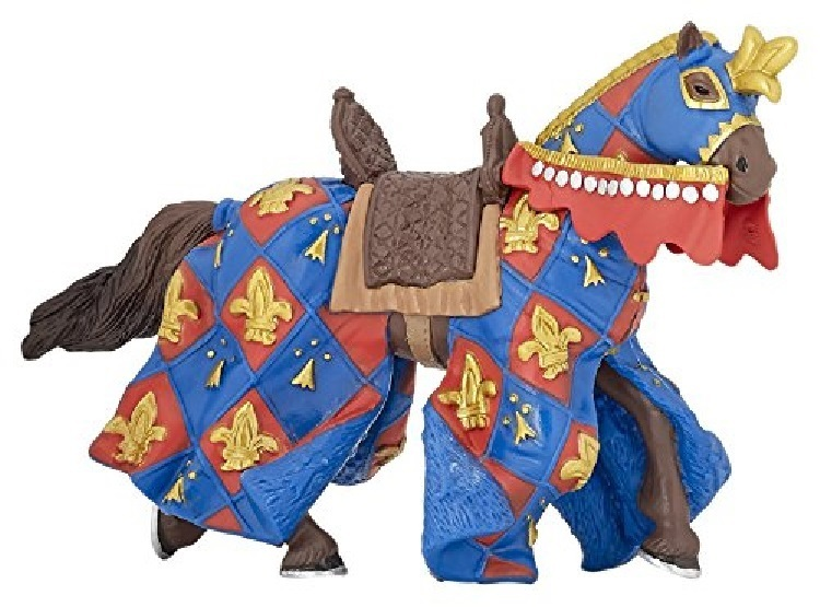 Papo 39787 Horse of Knight (Lilie blue) 14 cm Knight and Castle