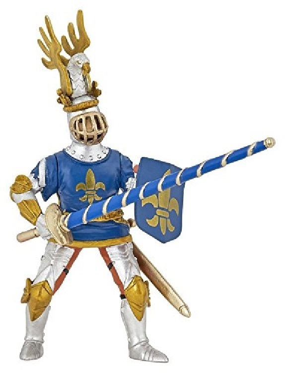 Papo 39788 Knight (Lilie blue) 11 cm Knight and Castle