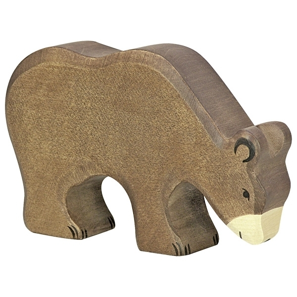 Holztiger 80184 brown bear (eating) 13 cm Wood Figure Series Wild Animals