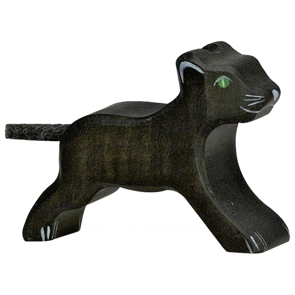 Holztiger 80144 panther small 7 cm Wood Figure Series Wild Animals