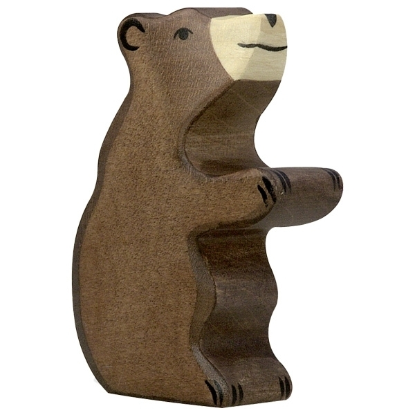 Holztiger 80186 brown bear small (sitting) 8,5 cm Wood Figure Series Wild Animals