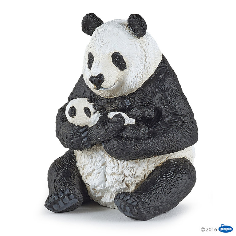 Papo 50196 Panda with young (sitting) 7 cm Wild Animals