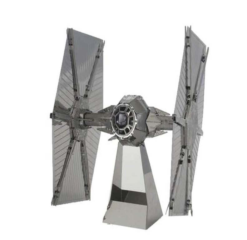 Metal Earth 1256 Tie Fighter Star Wars 3D-Metall-Bausatz Silver-Edition