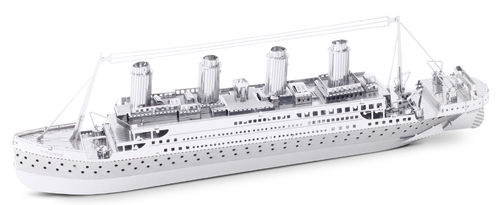 Metal Earth 1030 Titanic 3D-Metall-Bausatz Silver-Edition