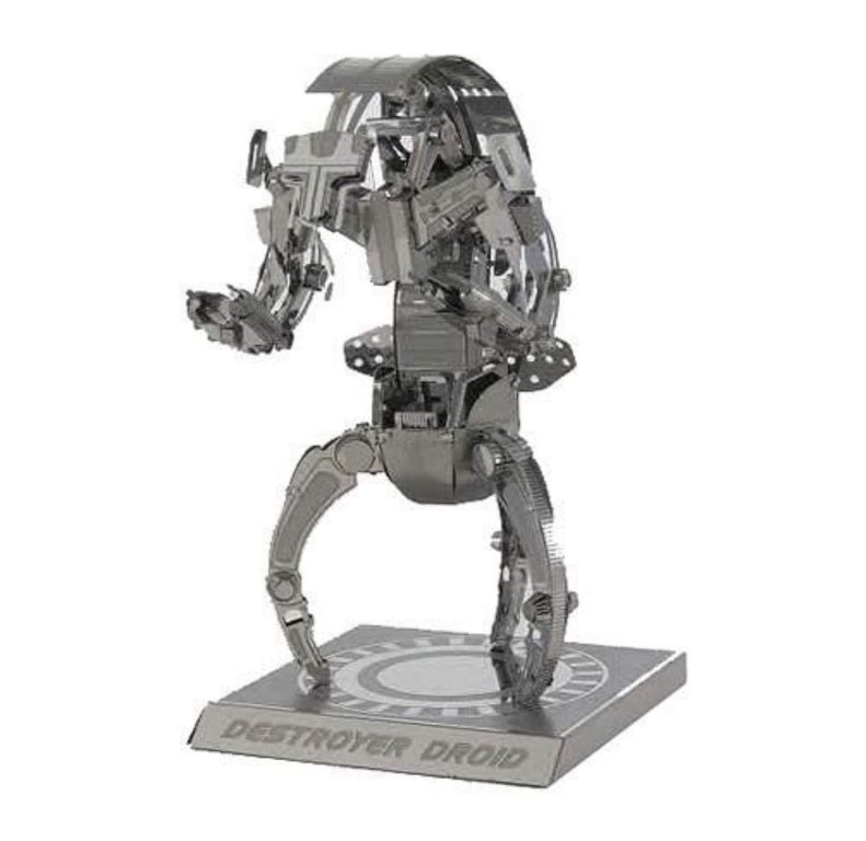 Metal Earth 1255 Destroyer Droid  Star Wars 3D-Metall-Bausatz Silver-Edition