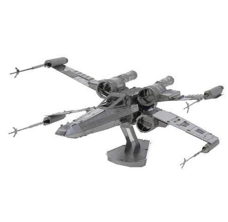Metal Earth 1257 X-Wing Star Wars 3D-Metall-Bausatz Silver-Edition