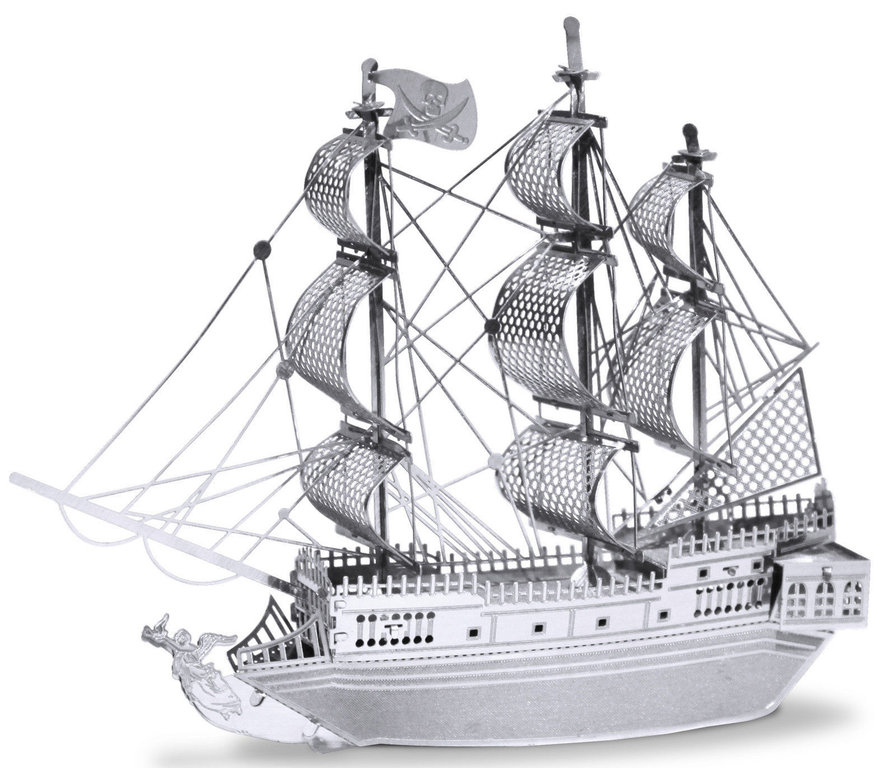 Metal Earth 1012 Black Pearl ship (25 pieces) 3D-Metall-Construction Silver-Edition
