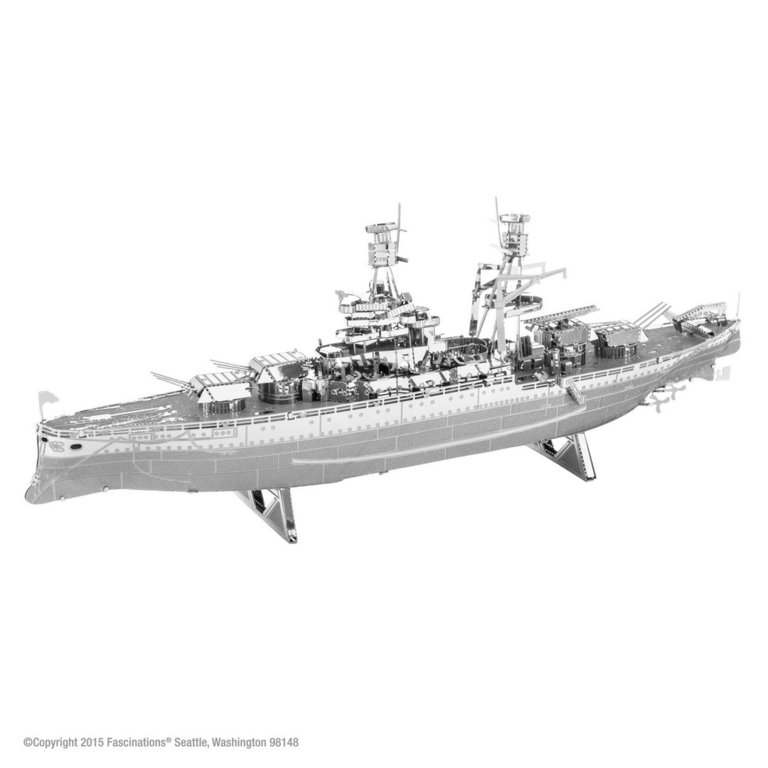 Metal Earth 1097 USS Arizona ship 3D-Metall-Construction Silver-Edition