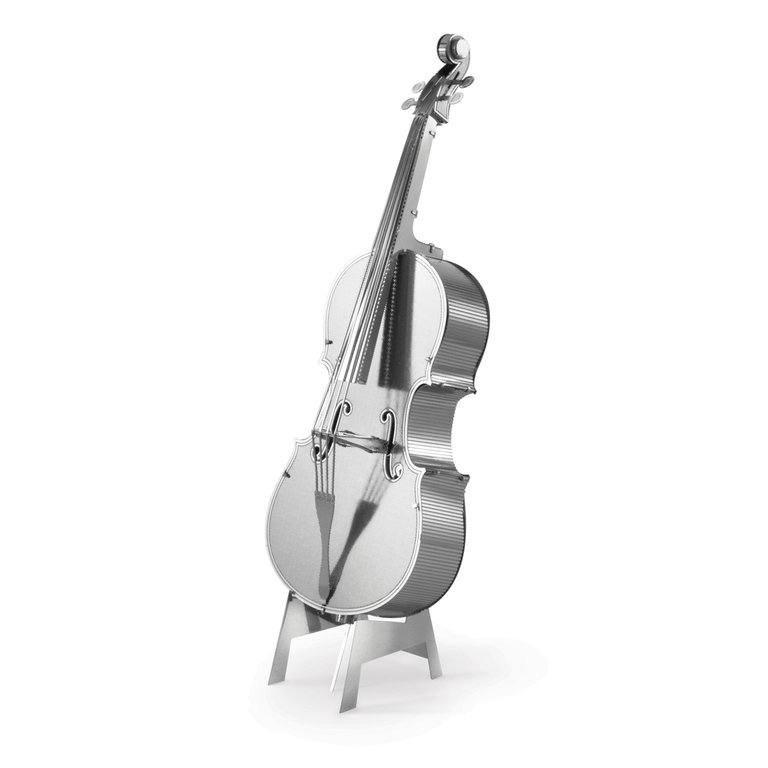 Metal Earth 1081 Bass Fiddle 3D-Metall-Construction Silver-Edition