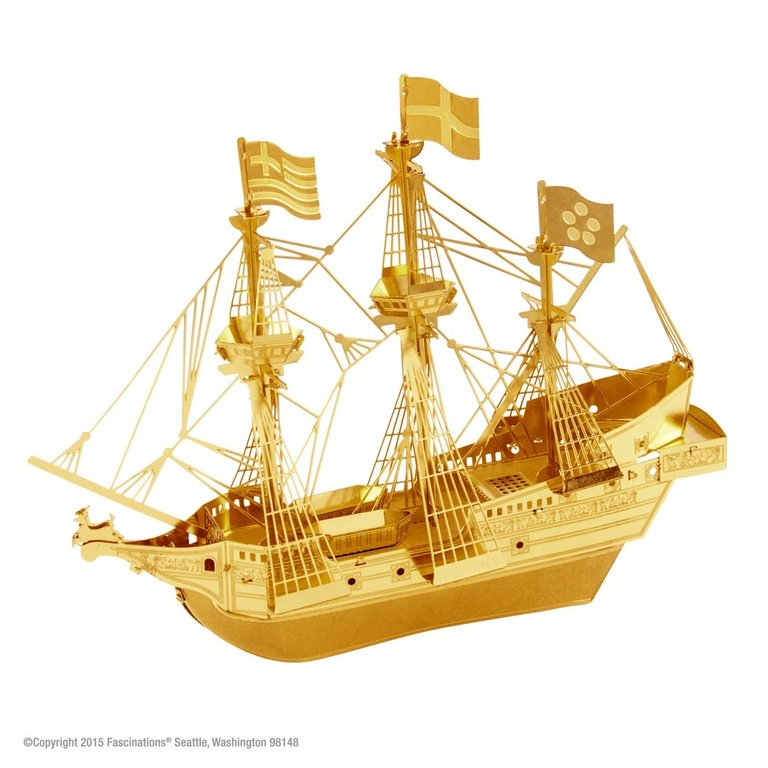 Metal Earth 1504 Golden Hind Modell 3D-Metall-Construction Gold-Edition
